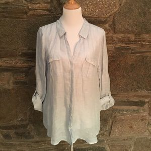 New JOIE 100% linen top