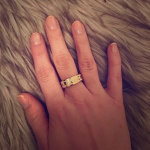 Marc by Marc Jacobs Cream and Gold Ring