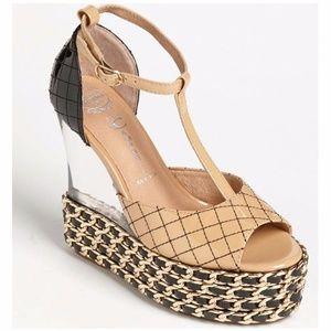 NEW Jeffrey Campbell Shaina Chain Wedge Sandal