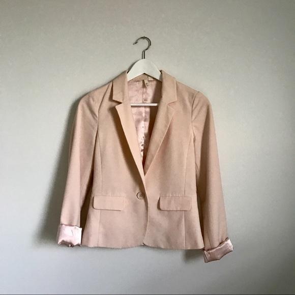 Frenchi Jackets & Coats - Frenchi Blush Pink Boyfriend Blazer Size Small S