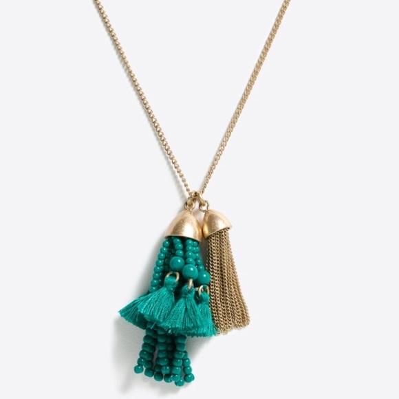 f74c0a6abcd0d3 J. Crew Factory Jewelry   Jcrew Beaded Tassel Pendant Necklace ...
