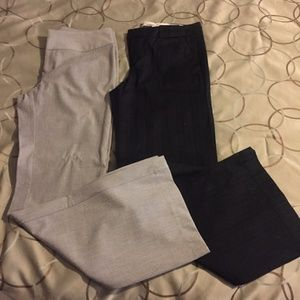 Bundle of two pairs wide leg dress pants/trousers