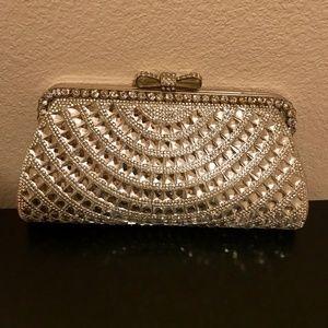 Diamond Rhinestone Embellished Evening Bag