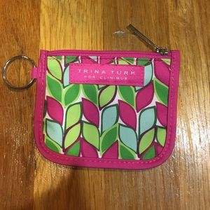 NEW Trina Turk for Clinique keychain w zip punch