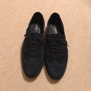 ShoeMint navy suede oxfords