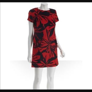Shoshanna red floral dress