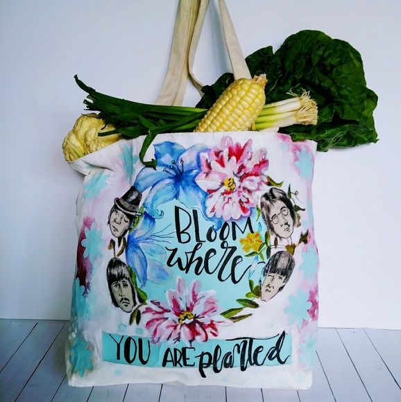 Hand Painted Canvas Tote Boutique