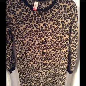Leopard footed pajamas
