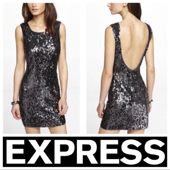 Back Sequin Dress