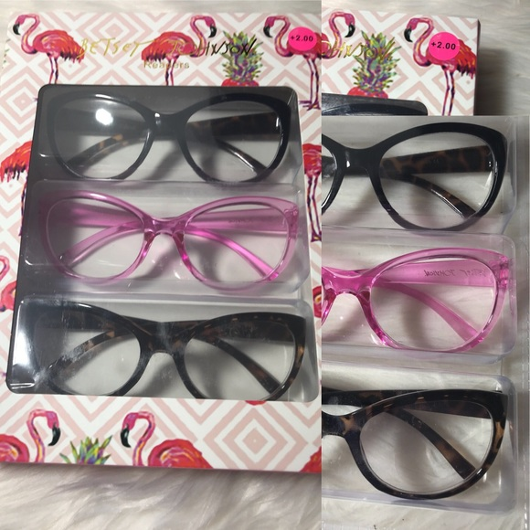 fb8ad70e15c4 NWT BETSEY JOHNSON READING GLASSES +2.00