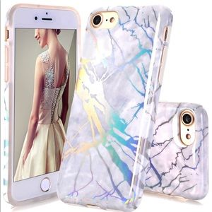 Accessories - 💝Iphone 7plus/8plus marble with color shine case!