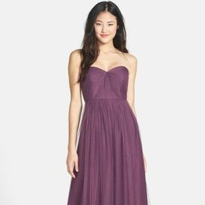 Jenny Yoo Purple Strapless Maxi Dress