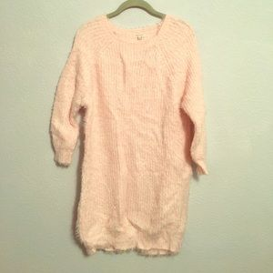 Soft Pink Sweater Dress