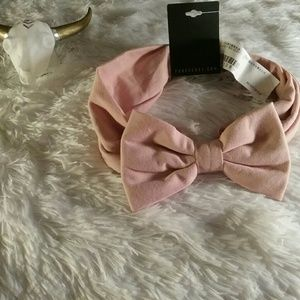 NEW Forever 21 Dusty Rose/Blush Bow Headband