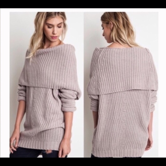 18% off Glamvault Sweaters - Pretty oversized off the shoulder ...