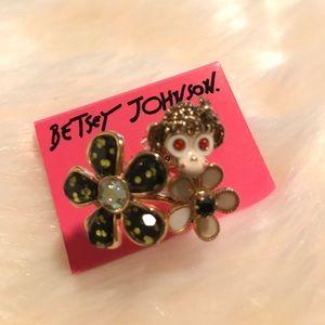 Betsey Johnson monkey flower RING Size 7 new