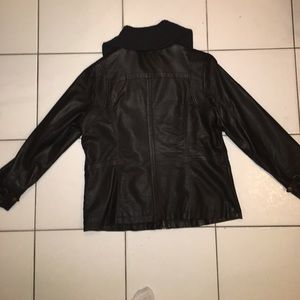 Jackets Coats Black Leather Bomber Jacket Womens Poshmark