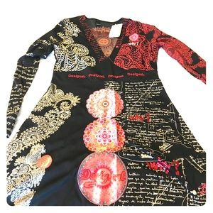 XL Desigual long sleeved dress - tags still on