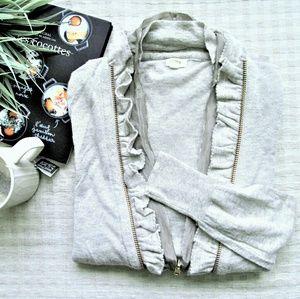 J crew factory grey zip up cardigan