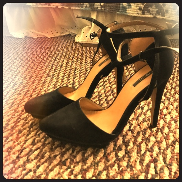 52517d9a7d7 Forever 21 Shoes - 3 inch Sexy suede strapped black heels 👠