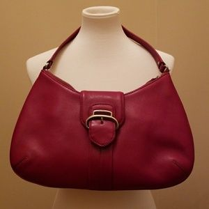 Cole Haan Red Leather Hobo Bag