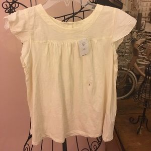 NWT GAP top with eyelet sleeves size 10