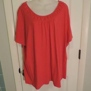 Fashion Bug Coral Tshirt, Short Sleeve, 4X