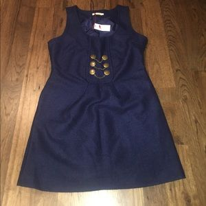 Navy Blue Wool dress