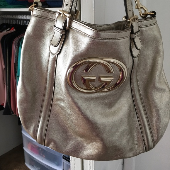 b7cb39add23a Gucci Bags | Authentic Leather Britt Gg Handbag | Poshmark
