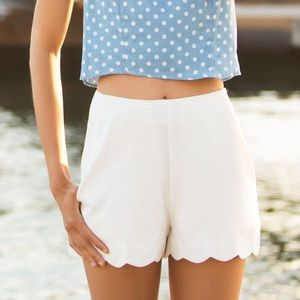 Monteau Chambray Scalloped shorts