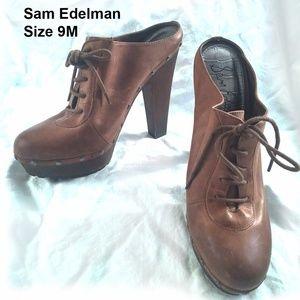 SAM EDELMAN - HIGH HEEL MULES - SIZE 9M