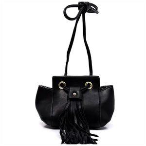 Handbags - Fashion Tassel Crossbody Bag Black