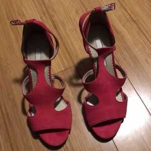 Suede Magenta Boden heels size 7