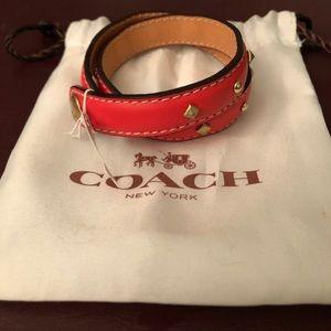 Coach wraparound bracelet doubles as choker