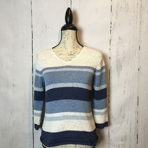 Pendleton Striped  Sweater Petite Medium or Small