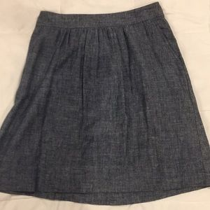 Eileen Fisher size small, cotton chambray skirt.
