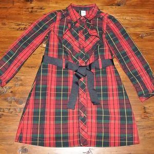 New OSHKOSH B'GOSH Girl's Tartan Plaid Shirt Dress