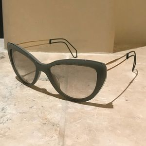 Miu Miu green sunglasses