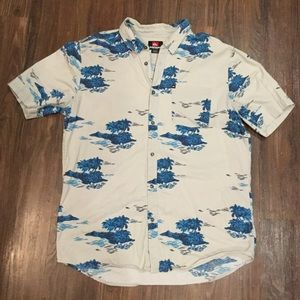 Mens XL Quiksilver S/S Hawaiian Aloha Shirt