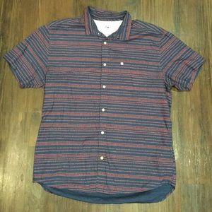 Mens XL Quiksilver S/S Aloha Hawaiian Shirt