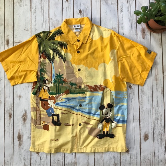 853ee2fdb Disney Shirts | Walt World Aloha Hawaiian Shirt Mens Large | Poshmark