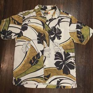 Mens Large Quiksilver Aloha Hawaiian Shirt