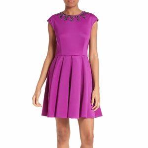 Ted Baker Embellished Fit and Flare J'adore Dress