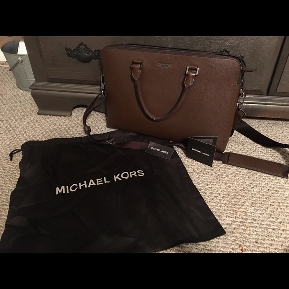 94b97bf642 Michael Kors Harrison leather briefcase. M 5a08f766bcd4a76715145af9