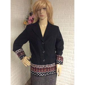 Victor Costa Occasion Sequin Embroidered Blazer