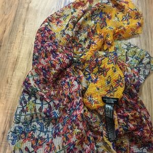 Zara floral large blanket style scarf