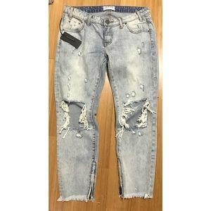 One Teaspoon Freebirds Super Distressed Jeans