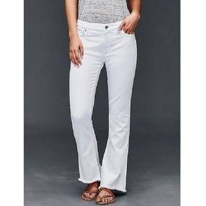 Original GAP denim flare white rip hem jeans