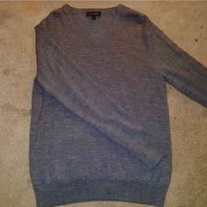 Men's Gray Vneck Sweater