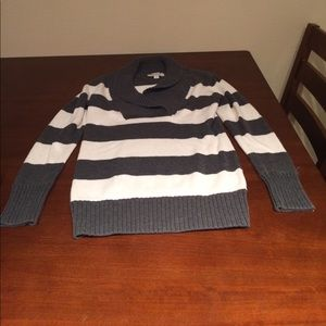 GUC grey/cream striped sweater